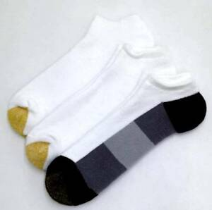 $34 Gold Toe New Men'S 3-Pair Pack White Cotton No-Show Athletic Socks Shoe 6-12