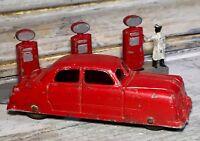 "VTG '49 Diecast TOOTSIETOY 3"" Ford 4-Door Sedan Red Body Closed Fender (BRW)"