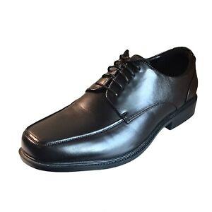 Croft & Barrow Mens Ortholite Oxford Black Lace Up Dress Shoes Size 12W