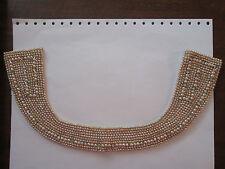 vintage Baaar & Beards collar faux pearls-rhinstones  '40s,'50s NICE!