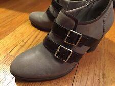 AUDREY BROOKE Women's 7.5 M Two-tone Brown Bootie Shoes