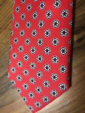 NEW $55 Star Wars Neckwear Italy Power Red Geometric Black Star Silk Tie