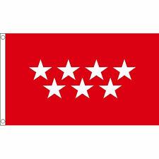 Madrid Flag Large 5 x 3' - Spain Spanish Region Capital City
