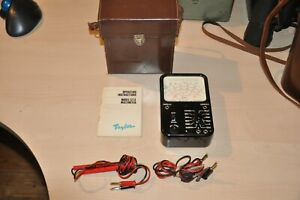 Vintage Taylor 127A  Multi Meter, with Instructions in Original Case