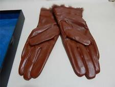 Brandwell Ladies Soft Brown Leather Gloves Faux fur lining Something special S/M