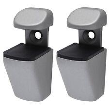 Duraline Mini-Clip Regalträger Träger Regalboards Glasregal 4-22 mm silber 2 er