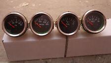 Chrome-Bezel-2-034-52mm-Electrical-Gauges-Set-4-pcs-Temp-Oil-Volt-Fuel Chrome