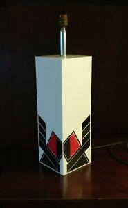 Rare Lamp Modernist Cubism Altuglas 1980
