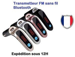 Transmetteur FM sans fil Bluetooth   Adaptateur MP3 Kit voiture