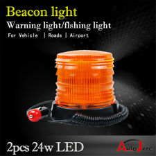 orange PAIR Flashing light Warning beacons Light Alarm bus strobe LIGHT round