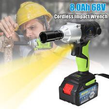 68V 1/2'' LED AVVITATORE CHIAVE AD IMPULSI 8.0AH LI-ION BATTERIA 420NM 3200RPM