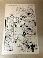 Stormwatch #36 original art 1996 FIGHT ACTION PG Image Wildcats Wetworks GEN 13