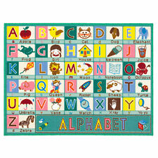 Childrens Playtime Educational Alphabet Rug - ABC - 100x133cms 33 X 44