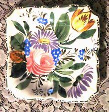 """Dish-Italian Flower Design-7.5"""" Across-Lovely-Vintage"""