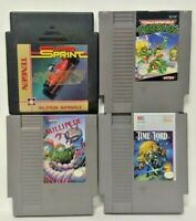 Nintendo NES Game Lot Tested Authentic Turtles Millipede Time Lord SUper Sprint
