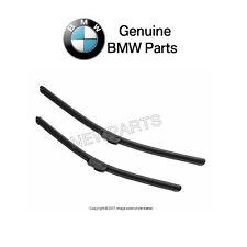 For BMW E46 323i 325i 328i Front Window Wiper Blade Set EVO Flat Blade Genuine