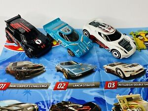 Hot Wheels Mystery Models Series 1 lot of 3 Mini Cooper Lancia Stratos UNOPENED