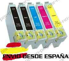 5 CARTUCHOS DE TINTA COMPATIBLE NON OEM EPSON STYLUS DX6000 SX515W T0711/2/3/4