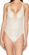 Natori Flora Lace Bodysuit 789150 Warm White Size M