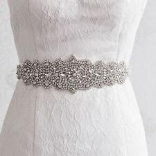 Rhinestone Ivory Sash Belt for Bridal Gown Crystal Wedding Dress Vintage Luxury
