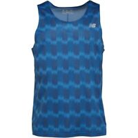 New Balance Mens Accelerate Printed Running Lapis Blue Vest Top Size M,L,XL,XX-L