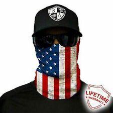 Sa Co Salt Armour Sa American Flag Face Shield Sun Mask Balaclava *Usa*