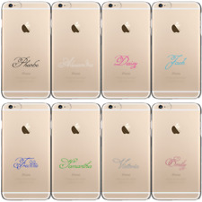 Personalised Initial Phone Case Scroll Name on Clear Hard Cover For Apple iPhone