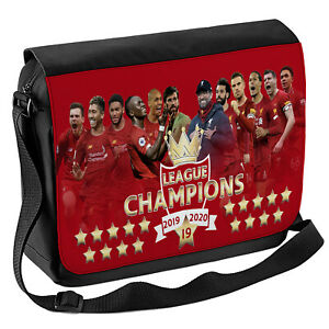 Liverpool Football Shoulder Bag Champions School Work Laptop Messenger Case Gift