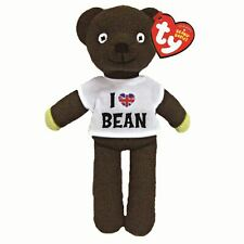 "Mr Bean Teddy Bear Beanie Baby Plush Soft Toy I Love You - 9"" by TY"
