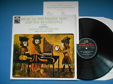 MUSIC OF THE MIDDLE AGES AND THE RENAISSANCE LP VOL 2 ENSEMBLE SYNTAGMA UK EX+
