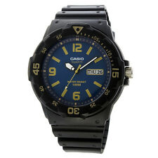 Casio MRW200H-2B3, Analog Watch, Black Resin Band, Day/Date, 100 Meter WR