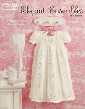 Elegant Ensembles to Knit Book 2 Christening Sets Knitting Patterns LA4760 NEW