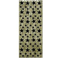NEW METALLIC CURTAIN WITH STARS Party Supplies