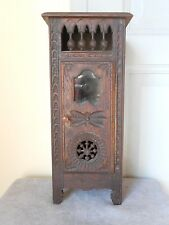 Antique French Breton Brittany Carved Wooden Miniature Doll Furniture Wardrobe