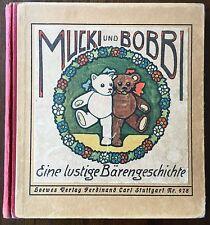 Orsi. – knözinger. Mucki e Bobbi. una storia divertente orsi. EA 1925