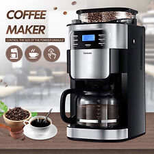 Coffee Maker w/Automatic Grinding 12 Cups  Programmable Drip Setting Dispensing