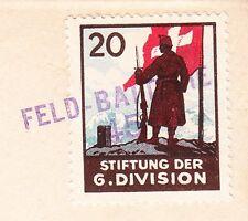 WWII Era Switzerland Feldpost Feld Batterie 45 Handstamp To Lausane Cover 3u