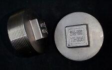 "STAINLESS STEEL PLUG 2 1/2"" PT BSPT PIPE"