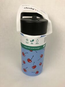 Cheeky Kids Go 14oz Insulated Stainless Steel Water Bottle with Straw / Lid