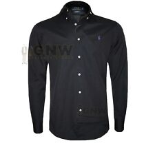 Mens Ralph Lauren Polo Custom Fit Shirt Small Pony Poplin Cotton Black L