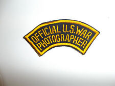 c0004 WW 2 US Army  Official US War Photographer tab R10A