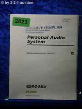 Sony Bedienungsanleitung ZS 2000 Personal Audio System (#2823)