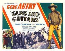 GENE AUTRY with gun drawn * GUNS AND GUITARS * 11x14 print 1936