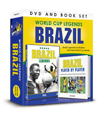 WORLD CUP LEGENDS GIFT SET BRAZIL LEGEND PELE DVD & PLAYER BY PLAYER BOOK