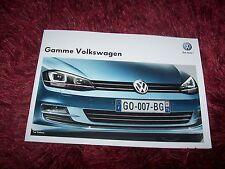 Catalogue / Brochure  VOLKSWAGEN Gamme / Full line 2012 / 2013 //