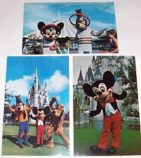 Disney World Postcards  (3)  Mickey and Friends  from the 70's--goofy & pluto #2