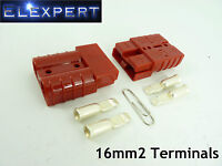ANDERSON PLUG 50 AMP_BATTERY CONNECTOR_JUMP START_SLAVE ASSIST_X2_RED_16MM2