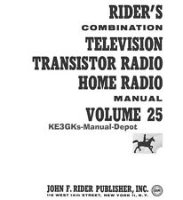 Riders Combination Manual * Volume 25 * Television Transistor Home Radio