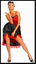 SALOON GIRL can can COSTUME ADULT WOMANS FANCY DRESS 10 -14
