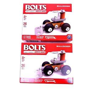 Meccano Bolts Erector Bulldozer Engineering Robotics Building Toys Lot of 2